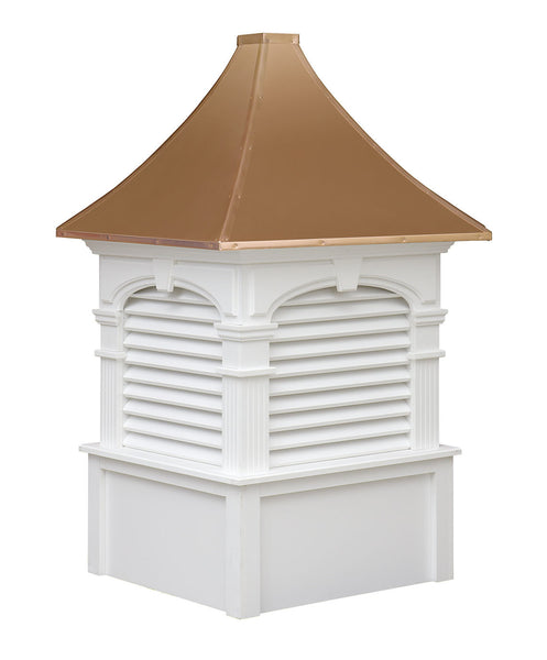 Ridge Craft Signature Series Alexander Cupola, Vinyl Body, Copper Roof, Louvered Openings