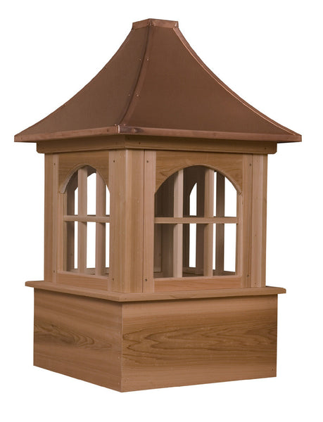 Ridge Craft Estate Series Bethany Cupola, Cedar Body, Copper Roof, Glass Windows