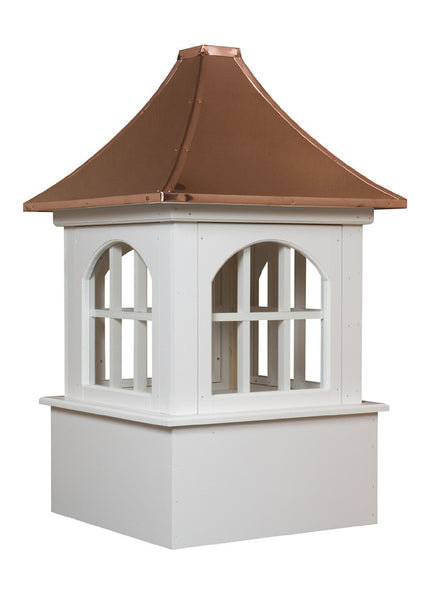 Ridge Craft Estate Series Bethany Cupola, Vinyl Body, Copper Roof, Glass Windows