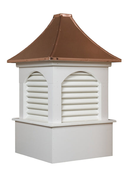 Ridge Craft Estate Series Dalton Cupola, Vinyl Body, Copper Roof, Louvered Openings