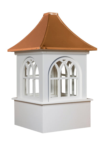 Ridge Craft Estate Series Roxbury Cupola, Vinyl Body, Copper Roof, Glass Windows