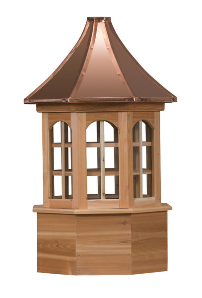 Ridge Craft Estate Series Salisbury Cupola, Cedar Body, Copper Roof, Glass Windows