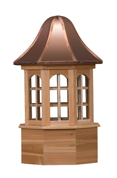 Ridge Craft Estate Series Villa Cupola, Cedar Body, Copper Roof, Glass Windows