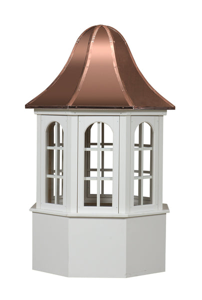 Ridge Craft Estate Series Villa Cupola, Vinyl Body, Copper Roof, Glass Windows