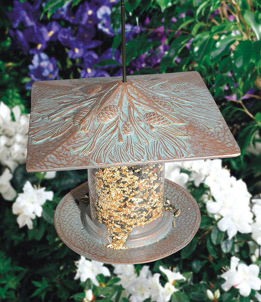 "Whitehall Pinecone 6"" Tube Wild Bird Feeder"