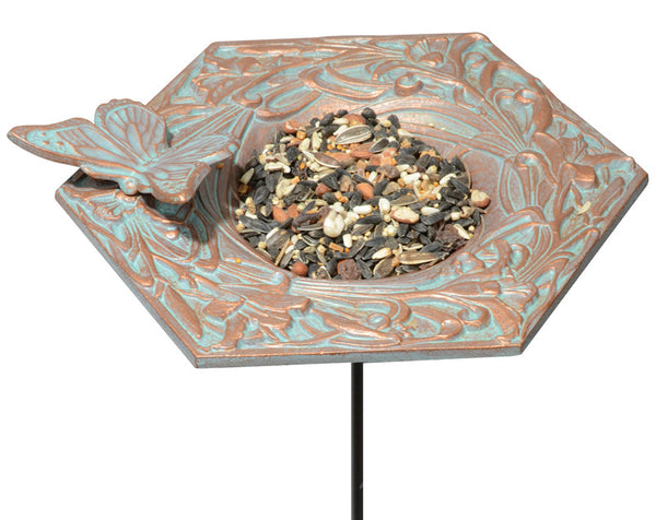 Whitehall Butterfly Garden Bird Feeder Copper Verdi