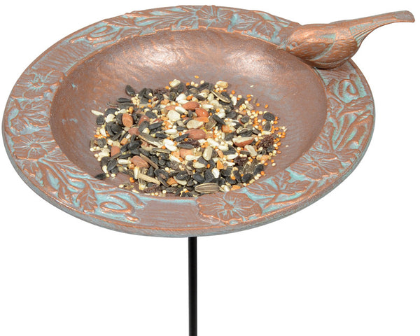 Whitehall Chickadee Garden Bird Feeder Copper Verdi