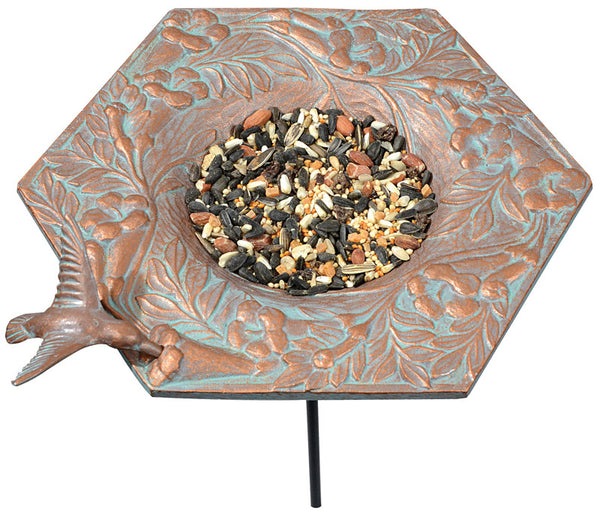 Whitehall Hummingbird Garden Bird Feeder Copper Verdi