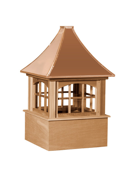 Ridge Craft Select Series Carlisle Arch Cupola, Cedar Body, Copper Roof, Glass Windows