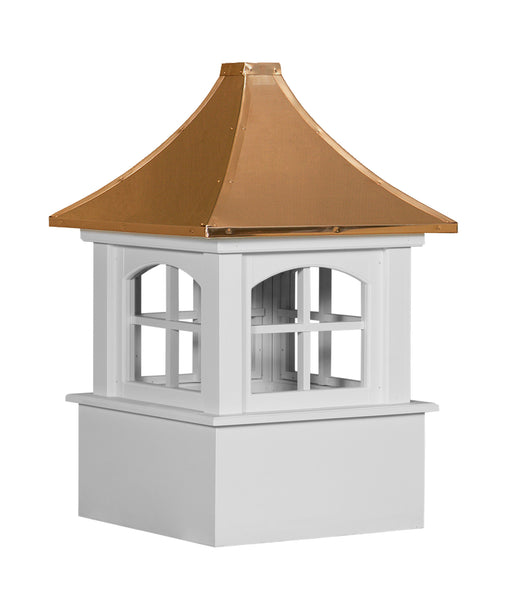 Ridge Craft Select Series Carlisle Arch Cupola, Vinyl Body, Copper Roof, Glass Windows