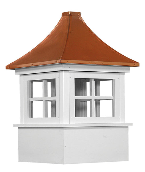 Ridge Craft Select Series Carlisle Cupola, Vinyl Body, Copper Roof, Glass Windows