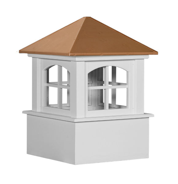 Ridge Craft Select Series Ellsworth Arch Cupola, Vinyl Body, Copper Roof, Glass Windows