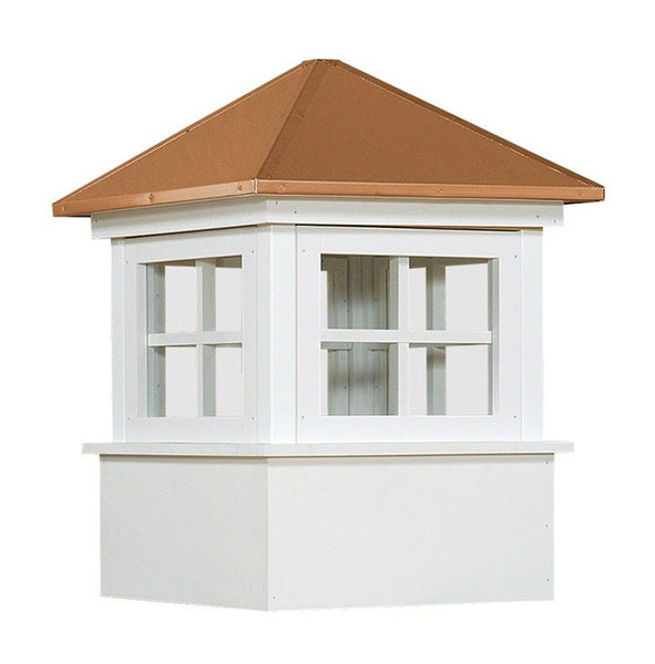 Ridge Craft Select Series Ellsworth Cupola, Vinyl Body, Copper Roof, Glass Windows