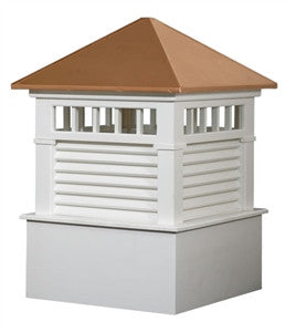 Ridge Craft Select Series Waterford Cupola, Vinyl Body, Copper Roof, Louvered Openings