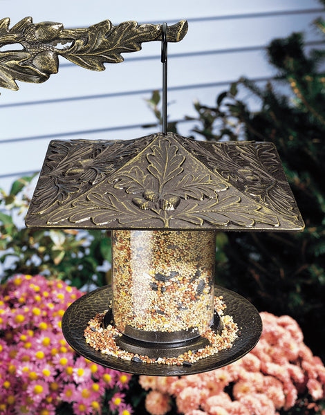 "Whitehall 6"" Oakleaf Tube Feeder French Bronze"