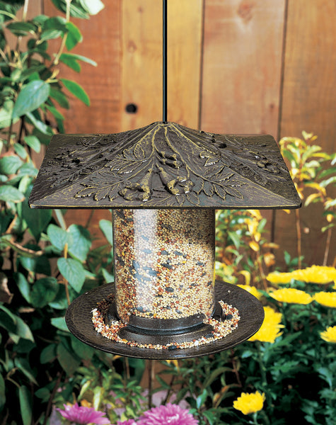 "Whitehall 6"" Trumpet Vine Tube Feeder French Bronze"