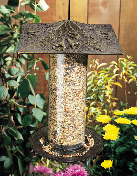 "Whitehall 12"" Trumpet Vine Tube Feeder French Bronze"