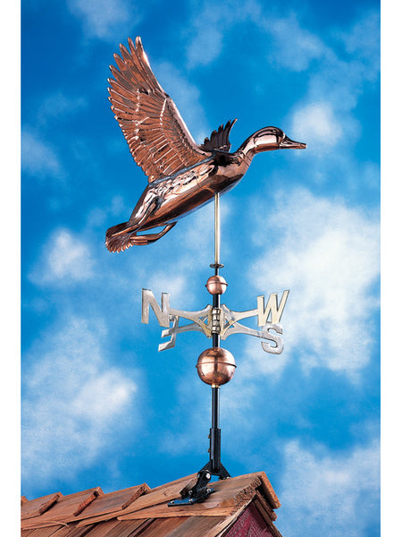 Whitehall Copper Duck Weathervane Polished