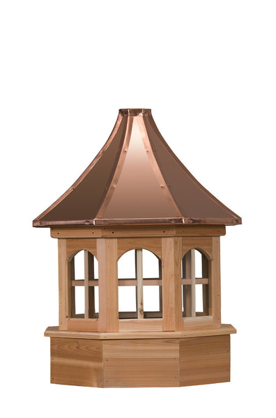 Ridge Craft Gazebo Series Salisbury Estate Cupola, Cedar Body, Copper Roof, Glass Windows