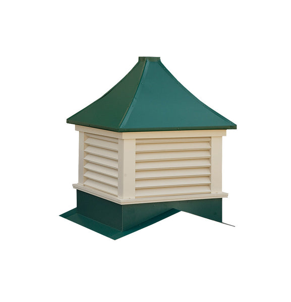 Ridge Craft Sundance Series Franklin Cupola, Vinyl Body, Pre-Painted Steel Roof, Louvered Openings