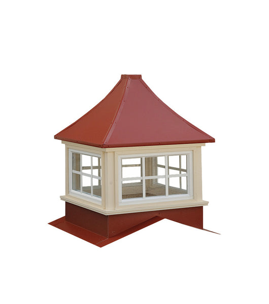 Ridge Craft Sundance Series Milford Cupola, Vinyl Body, Pre-Painted Steel Roof, Glass Windows