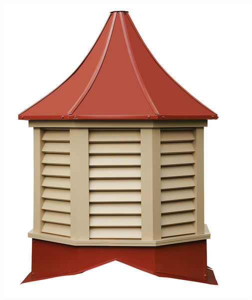 Ridge Craft Sundance Series Salem Cupola, Vinyl Body, Pre-Painted Steel Roof, Louvered Openings