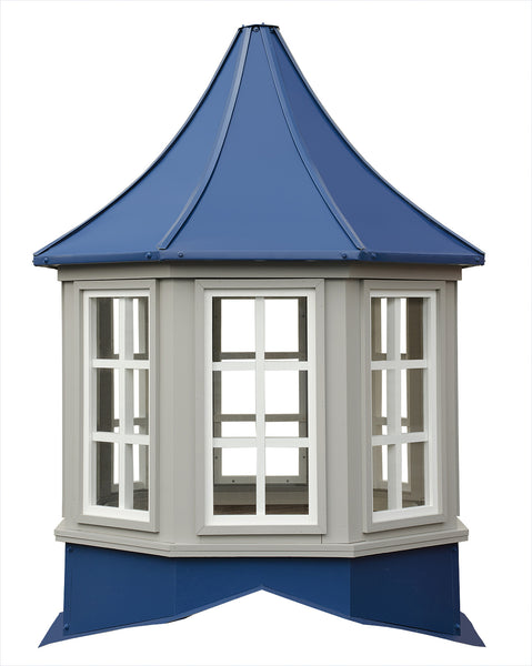 Ridge Craft Sundance Series Winchester Cupola, Vinyl Body, Pre-Painted Steel Roof, Glass Windows