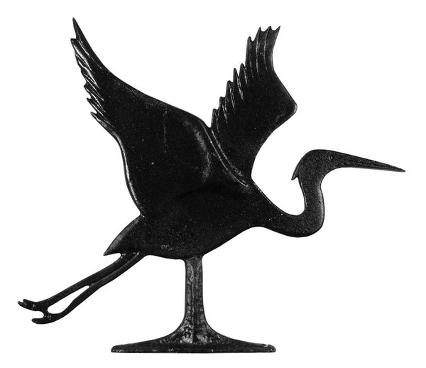 Whitehall Blue Heron Garden Weathervane, Black