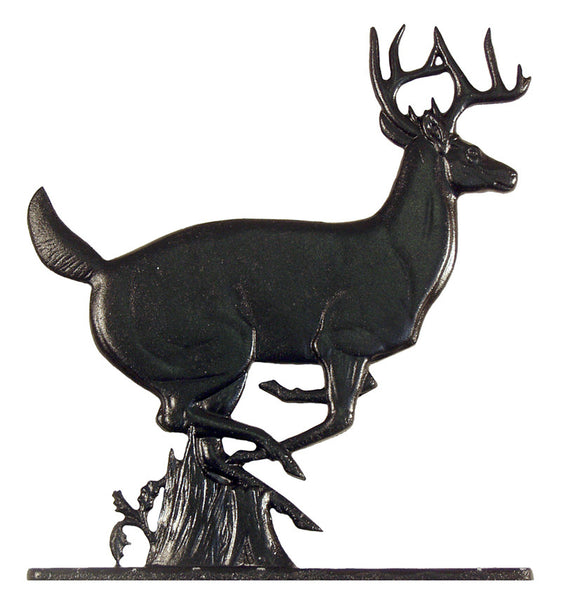Whitehall Buck Garden Weathervane, Black