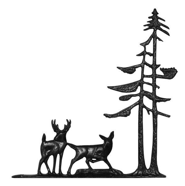 Deer and Pines Garden Weathervane