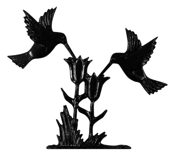 Whitehall Hummingbird Garden Weathervane, Black