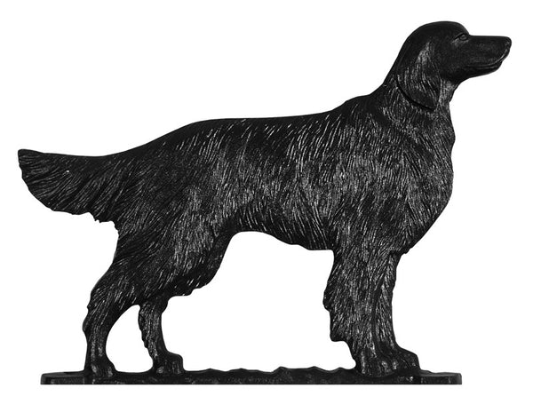 Whitehall Golden Retriever Garden Weathervane, Black