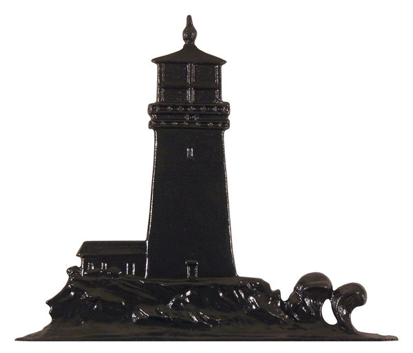 Whitehall Lighthouse Garden Weathervane, Black