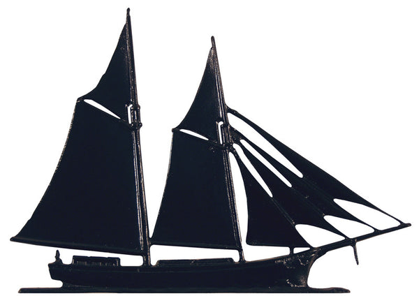 Whitehall Schooner Garden Weathervane, Black
