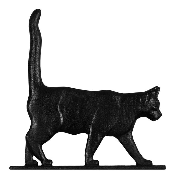 Whitehall Cat Garden Weathervane, Black