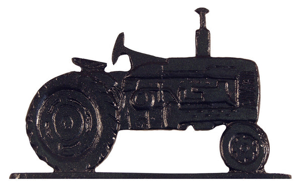 Whitehall Tractor Garden Weathervane, Black