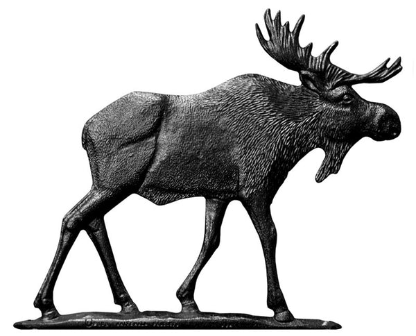 Whitehall 30 Inch Moose Weathervane Rooftop Black