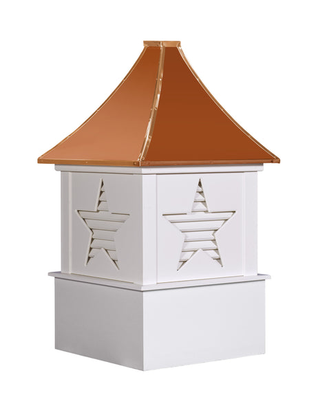 Ridge Craft Designer Series Alpha Cupola, Vinyl Body, Copper Roof, Louvered Openings