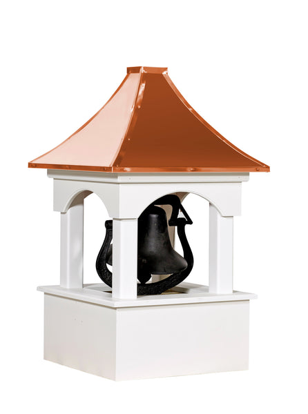 Ridge Craft Designer Series Bell Tower Cupola, Vinyl Body, Copper Roof