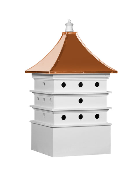 Ridge Craft Designer Series Martin House Cupola, Vinyl Body, Copper Roof