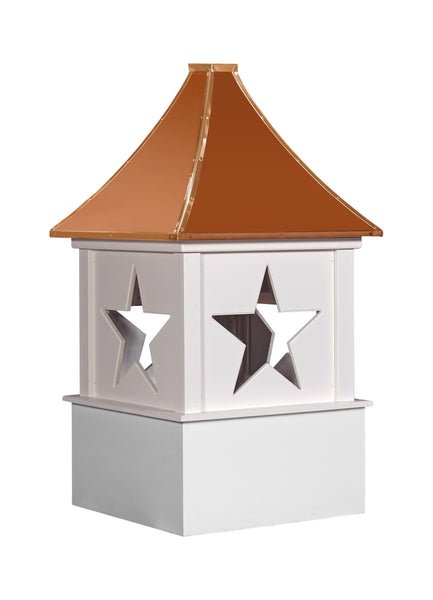 Ridge Craft Designer Series Polaris Cupola, Vinyl Body, Copper Roof, Glass Windows