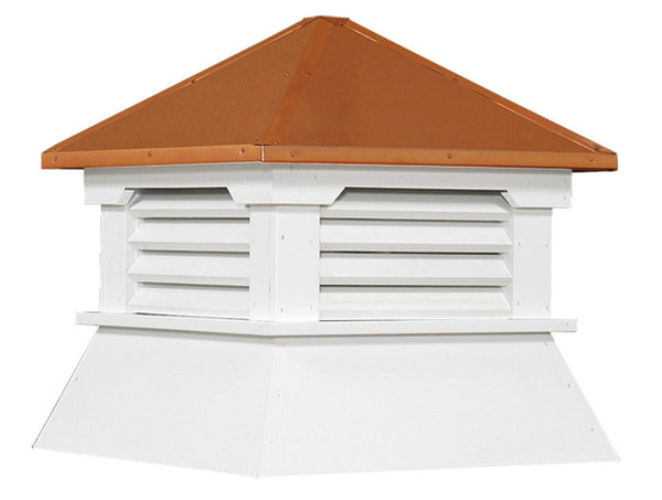 Ridge Craft Shed Series Cupola, Vinyl Body, Copper Roof