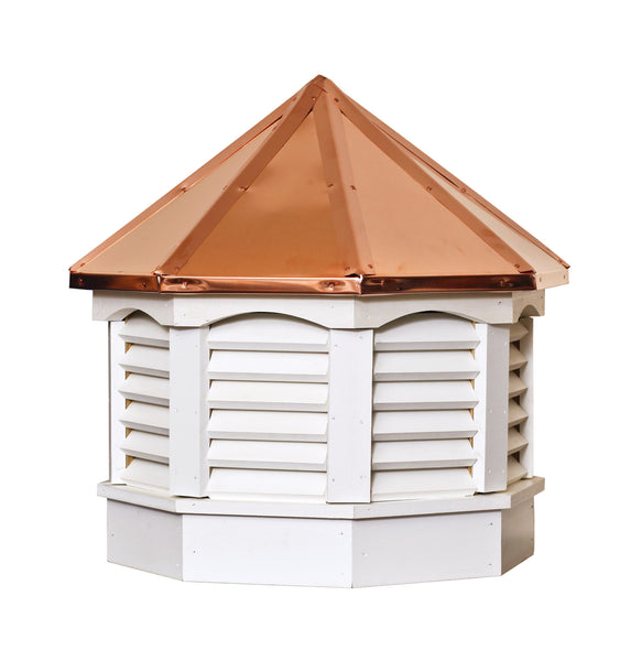 Ridge Craft Gazebo Series Cupola, Vinyl Body, Copper Roof