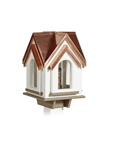 Mansion Birdfeeder - Copper Roof