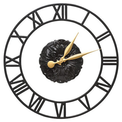 Cambridge Floating Ring Indoor Outdoor Wall Clock in Black