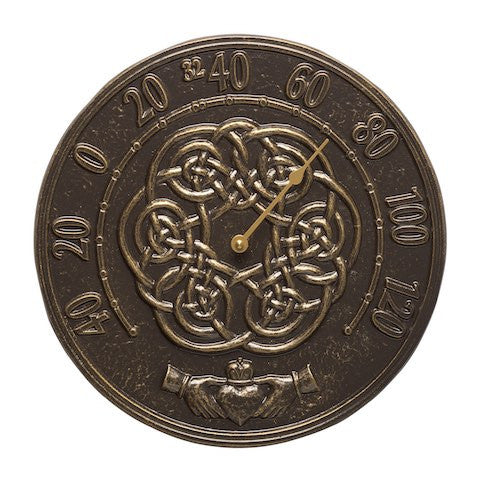 Whitehall Irish Blessing Thermometer French Bronze
