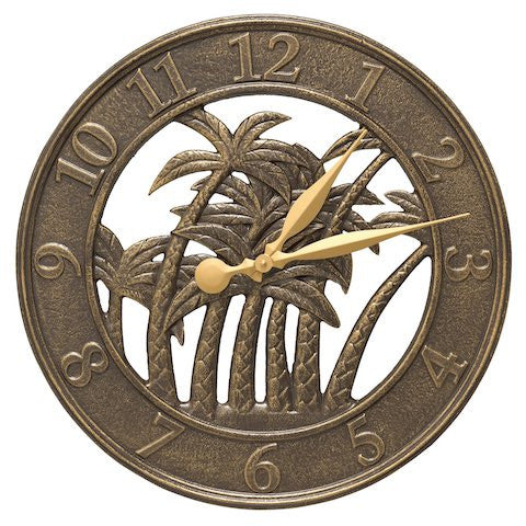 Whitehall Palm Clock French Bronze