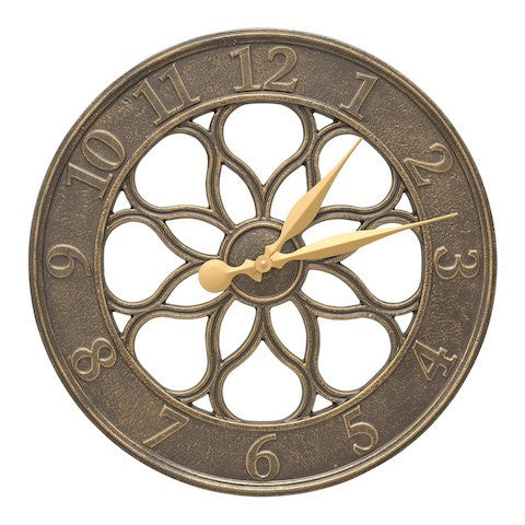 Whitehall Medallion Clock French Bronze