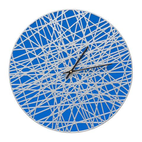 Banded Indoor Outdoor Wall Clock in Bronze Verdigris