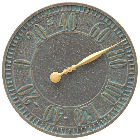 Geneva Indoor Outdoor Wall Thermometer in Bronze Verdigris